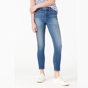 """J Crew 9"""" High Rise Toothpick Jeans"""